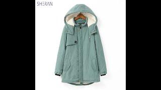 Новинка 2021 зимние женские куртки пальто простые парки теплые пальто с капюшоном с Aliexpress