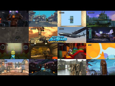 PlayStation All-Stars Battle Royale -  Every Stage Intros (HD)