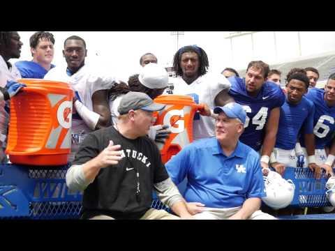 Kentucky Wildcats TV:Joe Craft Coach Stoops & his assistants do the ALS Ice Bucket Challenge.