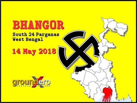 Panchayat Election Day Violence on Independent candidates - Bhangor, West Bengal - 14 May 2018