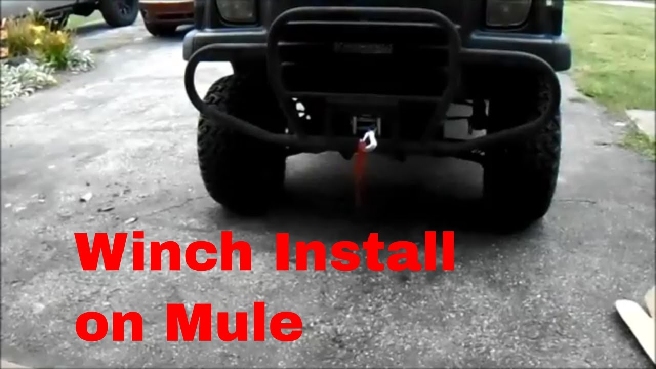 medium resolution of kawasaki mule 3010 winch install