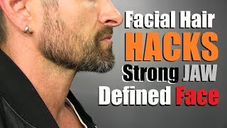 STRONG JAW & Defined Face Facial Hair Hacks!