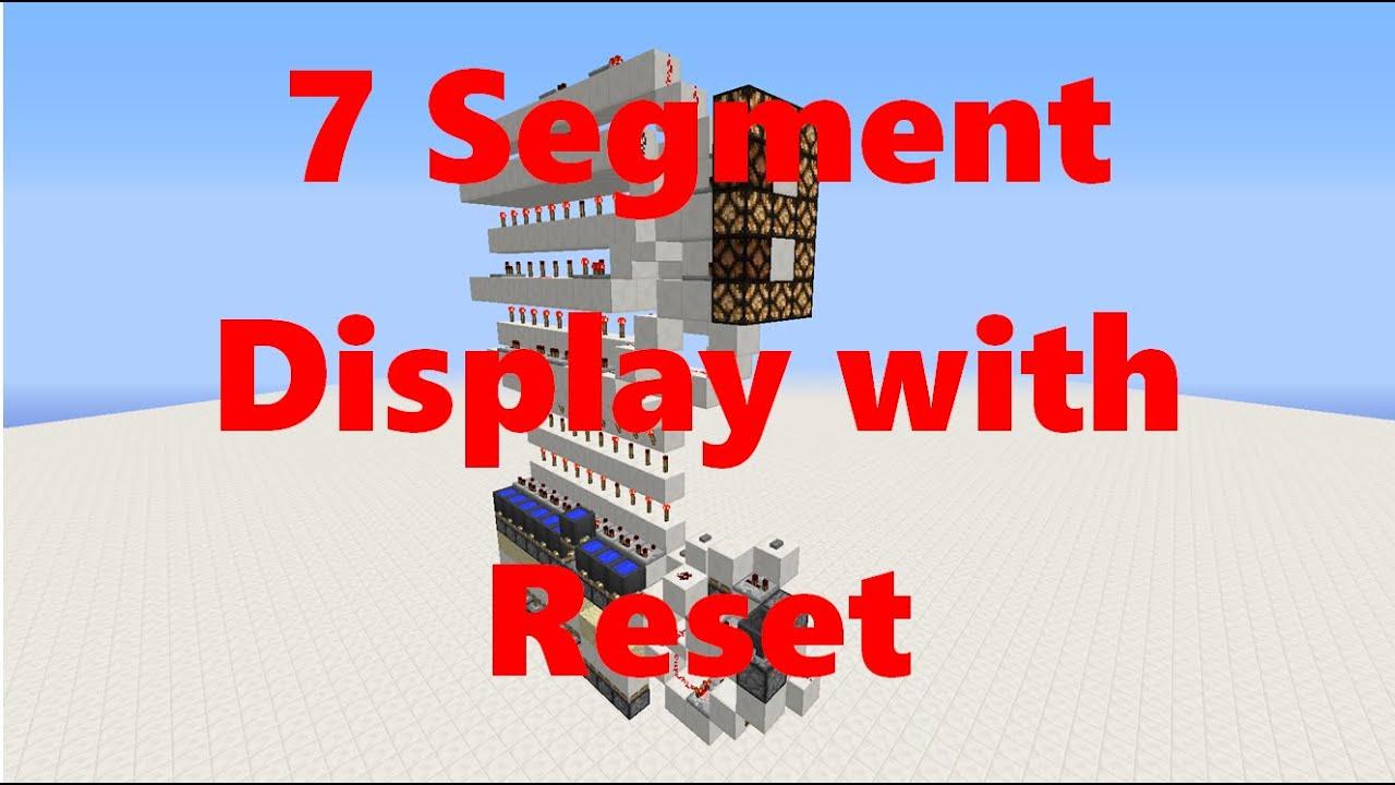 Minecraft 7 Segment Display Easy Fast Reset Showcase Youtube