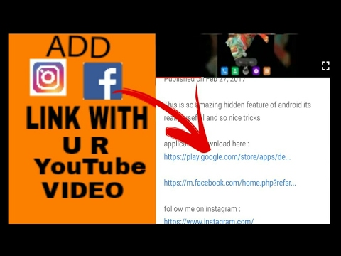 how to share your fb,insta link with YouTube video by its all 4 u