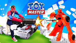 Новые игры Трансформеры - Автоботы и ТойМастер на штурме Базы! - Онлайн видео игры битвы