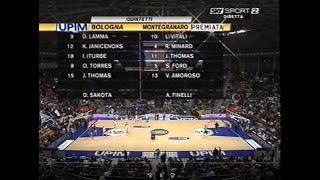 Fortitudo-Sutor basket serie A 2° giornata ritorno (21-01-2008)