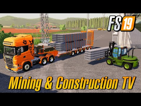 Produce And Sell Steel Mining And Construction Map Farming Simulator 2019