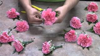 Houston Florist DIY Boutonniere with Carnations