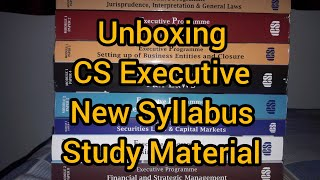 Unboxing of CS Executive New Syllabus Study material || For June 2020 Examination