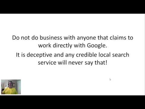 Google Business Listing Phone Call Scam