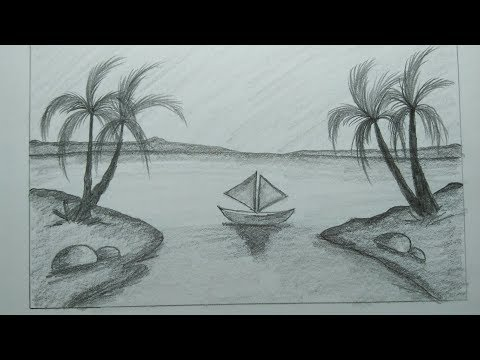 How To Draw Scenery With Pencil Step By Step