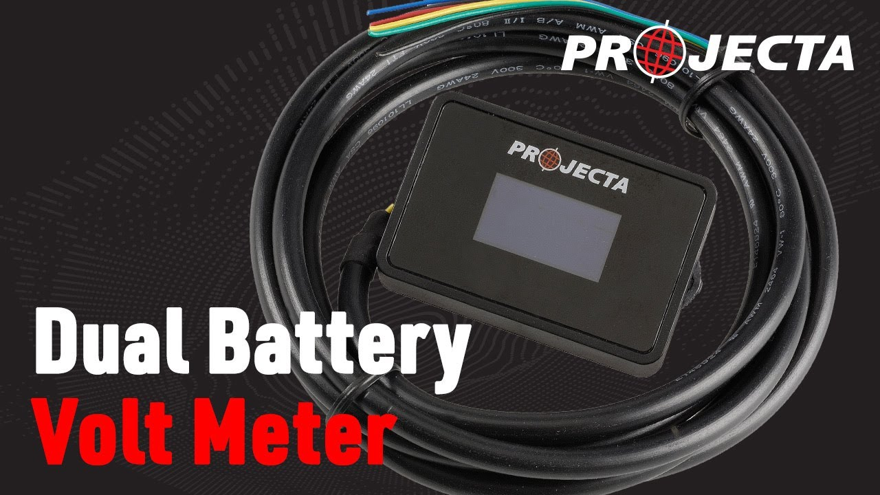 Projecta Dual Battery Volt Meter  YouTube