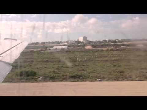 Takeoff from Mogadishu Airport in Somalia