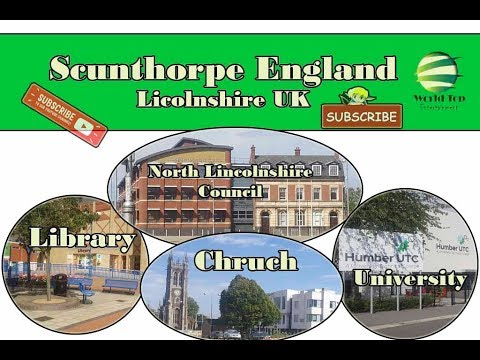 Scunthorpe, Scunthorpe Library, Scunthorpe Town,lincolnshire UK