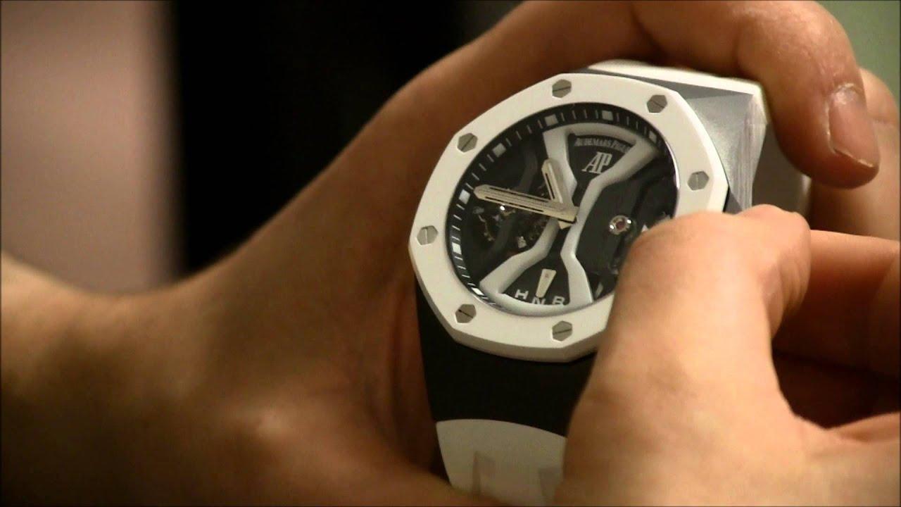 Audemars Piguet Royal Oak Concept Gmt Tourbillon 2014 Watch In White Hands On Ablogtowatch