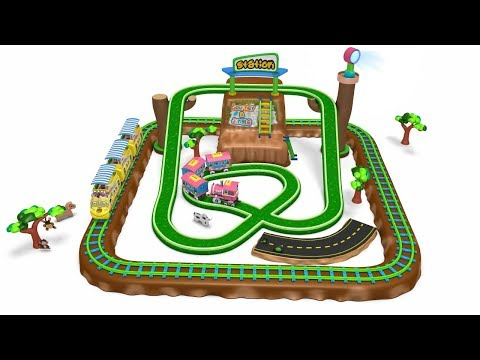 3D Animated Toy Train Play Set for Kids - Cartoon Videos for Children - Toy Factory
