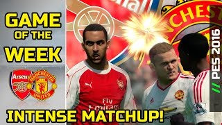 [TTB] PES 2016 - Arsenal vs Man United - GOTW - October 4th 2015 - Ep 1