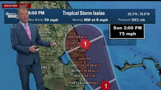 8 P.m. Weather Update On Tropical Storm Isaias