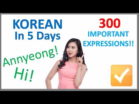 Learn Korean in 5 Days - Conversation for Beginners