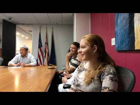 Resist Trump groups meet with staff of Senator Mazie Hirono on 4/4/17