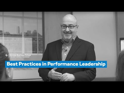 Best Practices in Performance Leadership