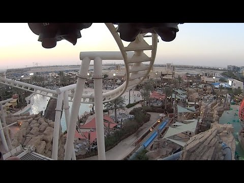 Roller Coaster Ride at Yas Waterworld