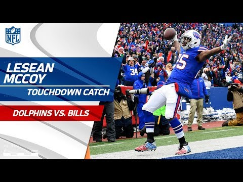 LeSean McCoy Goes Over 10k Career Rushing Yards Then Catches TD! | Dolphins vs. Bills | NFL Wk 15