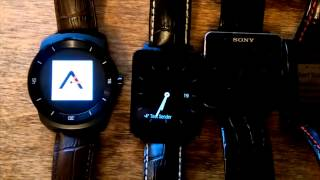 Demo of Augmented SmartWatch Pro on Android Wear, Pebble and Sony