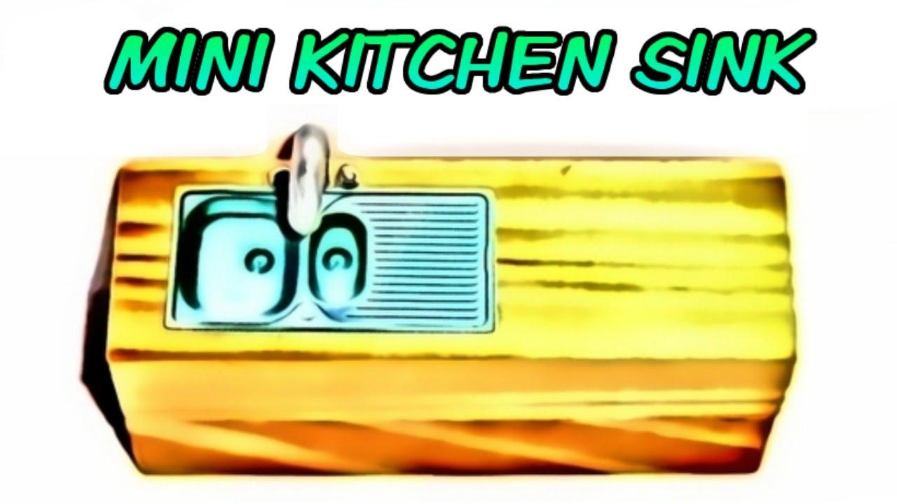 Miniature Doll Kitchen Sink Tutorial Dollhouse Diy Youtube