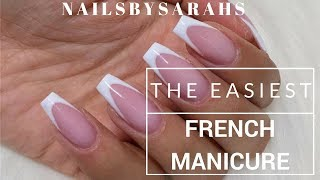 THE EASIEST FRENCH MANICURE | Nailsbysarahs (watch in HD-quality)