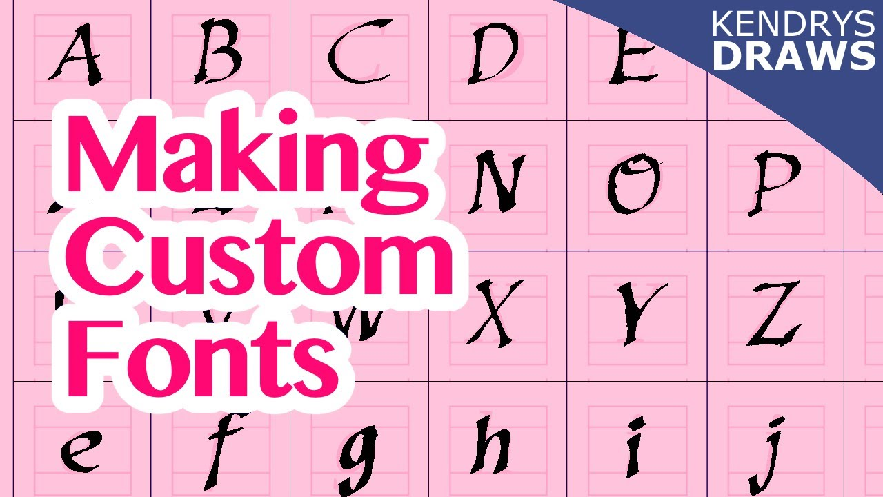 How to make custom fonts for your Comic or Manga