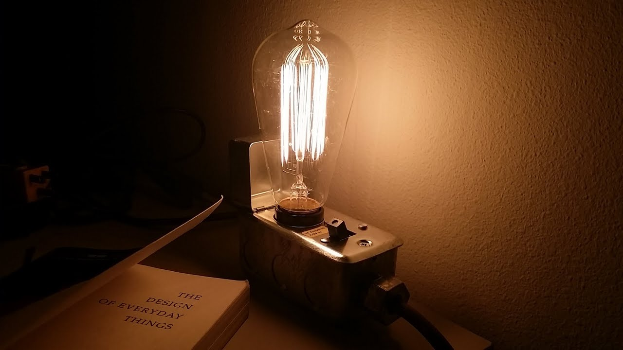 Edison Lamp \u0026 Desk lamp Tutorial on Edison Desk Lamp \u0026 how to ...