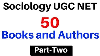 UGC NET Sociology 50 Books and Authors (Part-Two) | Hindi & English Medium