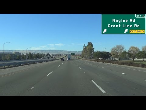 Interstate 205 West in Tracy, California