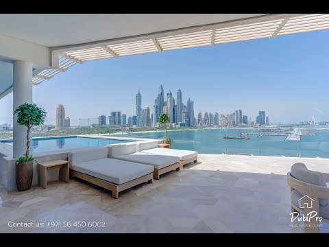 Inside a $4,800,000 penthouse on the Palm Jumeirah Dubai with private pool, FIVE Palm Jumeirah