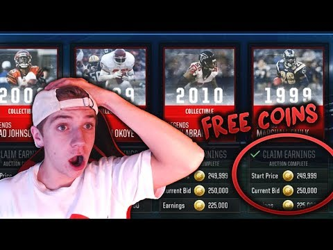 AUCTION HOUSE GLITCH THAT MADE ME 2 MILLION COINS IN 1 MINUTE! MADDEN MOBILE 18 COIN GLITCH