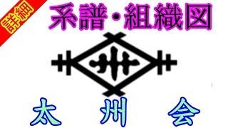 【太州会】川筋ヤクザの保守本流『太州会』の系譜・組織図について Taishuu kai mafia group