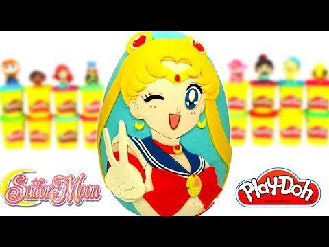 Huevo Sorpresa Gigante de Sailor Moon en Español Latino de Plastilina Play Doh