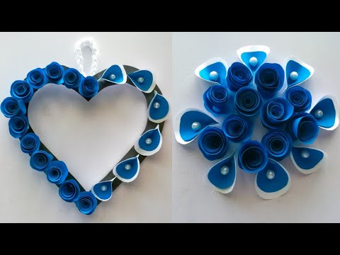 Amazing and beautiful Paper flower Heart  Wall hanging / Diy paper flower wall hanging / Home decor