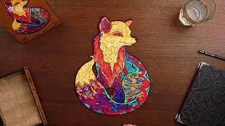 Unidragon Деревянный пазл - Обольстительная Лисичка