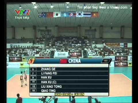 Bong chuyen nu VTV Cup 2011 China Vs Japan Part 1