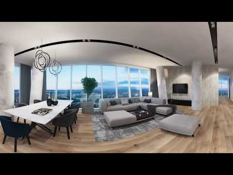 3D Architectural Animation 360` CGI. Hanza Tower. 4K