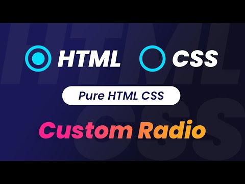 Pure CSS Custom Radio Button | HTML & CSS Design Tutorials