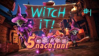 5 NACH FÜNF 💩 Hexe mit Kartoffel erschlagen! • Witch it #1 • Gameplay German Deutsch
