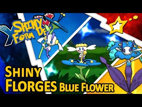 [LIVE!] Shiny Flabébé Blue Flower via PokéRadar + EVOLUTION to Shiny Florges Blue! (XY + USUM)