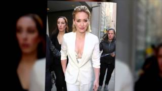 Fashion Alert! Hilary Duff in Winter White Pants Suit!