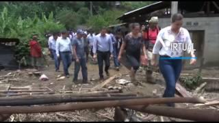 Moreno Valle y Rosario Robles supervisan zona afectada en Tlaola