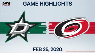 NHL Highlights | Stars vs. Hurricanes - Feb. 25, 2020