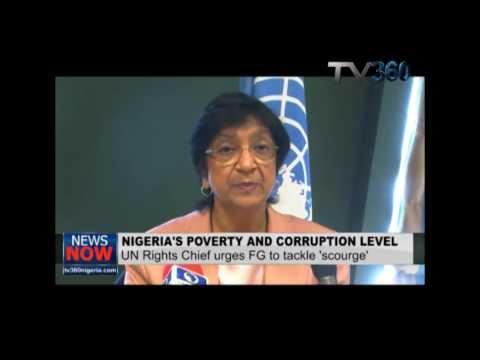 Corruption pulling Nigeria back - Navi Pillay,UN Rights Chief