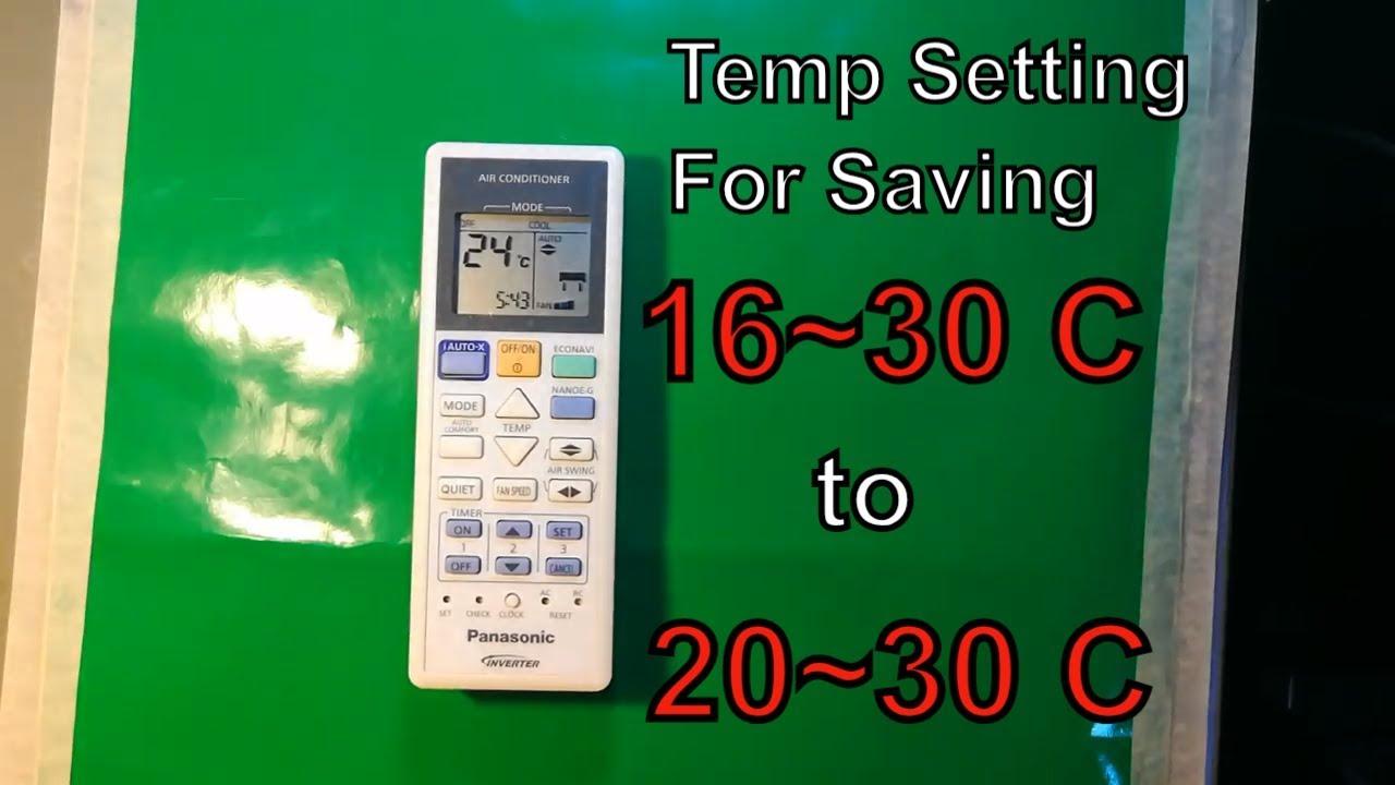 How to set temperature range on Panasonic AC remote Control